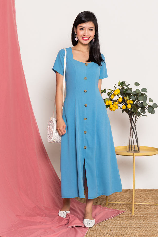 Carly Buttons Midi Dress