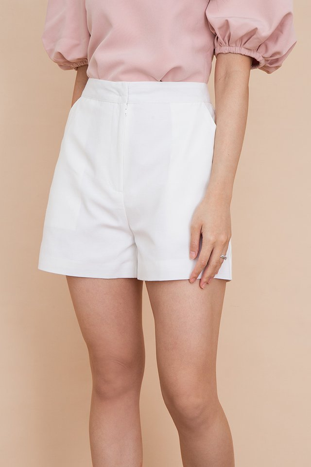 Clarity Linen Shorts in White