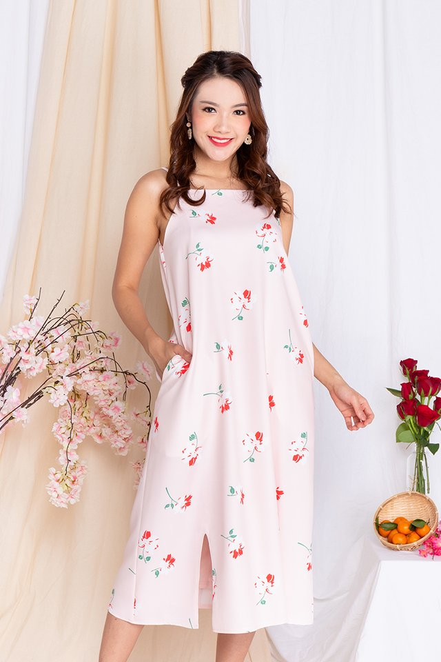 Fortune Florals Tent Dress in Pink
