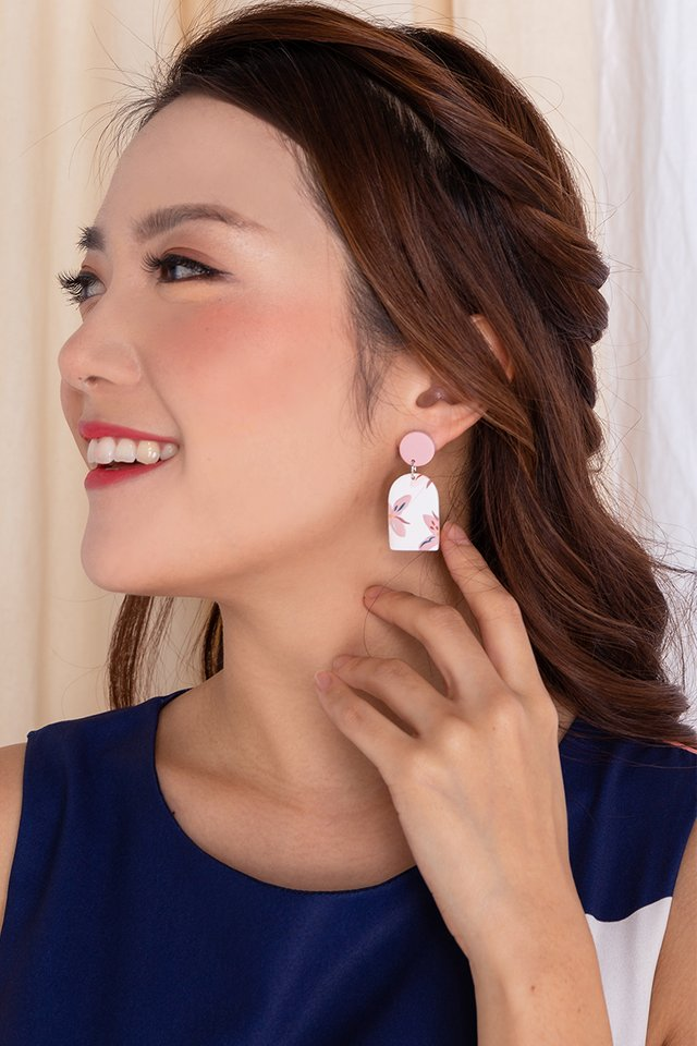 Harmony Arch Earrings in Pearl White