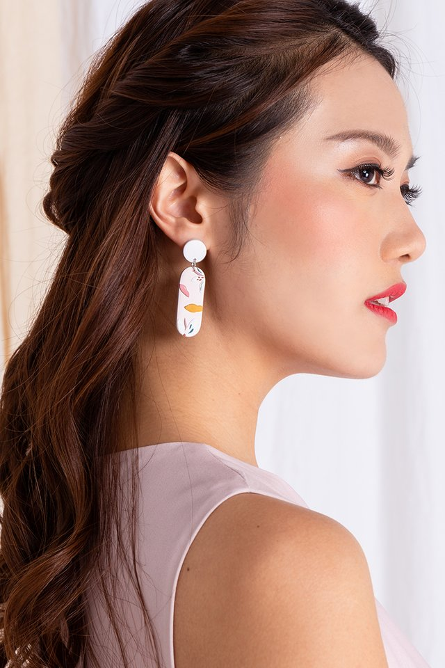 Harmony Squoval Earrings in Lady Pink