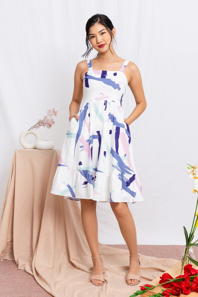 Joie Abstract Skater Dress