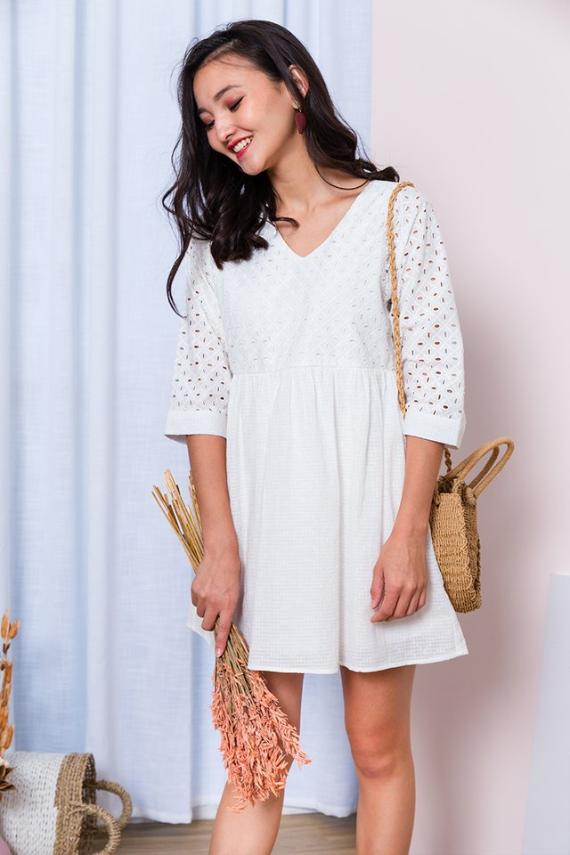 Missy Pixie Eyelet Dress in White