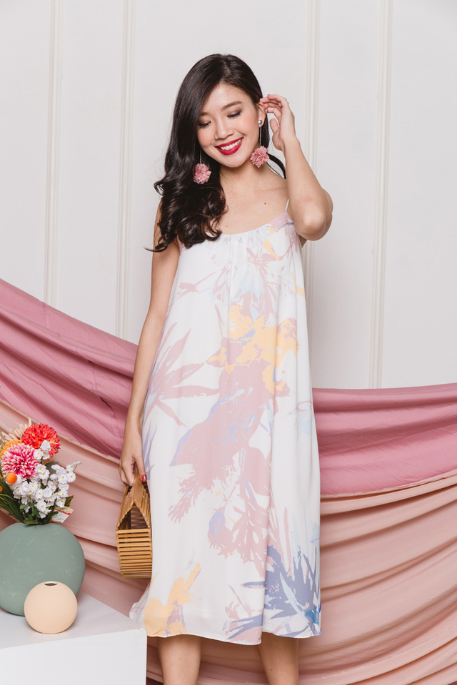 Naomi Watercolour Slip Dress
