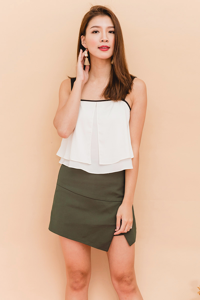 Shelley Overlap Skorts in Olive