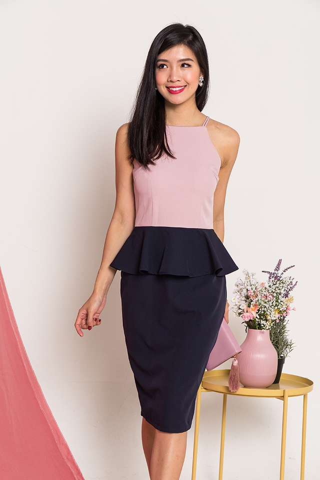 Winning Discovery Dress in Mauve Navy